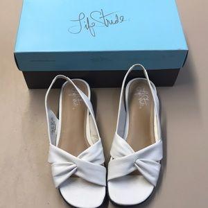 Life Stride White Sandals